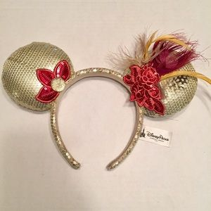 Disney Parks Gold Sequin Mickey Mouse Ears Retired